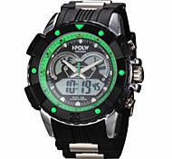 montre double sport temps de luxe le analogique-numérique des hommes / calendar / chronographe / alarme
