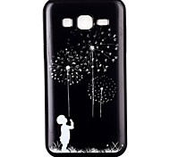 Black Dandelion TPU Material Cell Phone Case for Samsung GALAXY G360/J1/J2/G5308/9082/