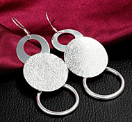 """2015 Fashion 925 Sterling Silver Noble """"O""""Drop Earrings Wedding Party  Daily For Woman&Lady"""