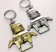 Robot Boba Fett Solid Metal Magnetic Bottle Opener with Keychain Key Ring