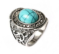 Retro Domineering Exquisite Carving Ring Sapphire-jewelry