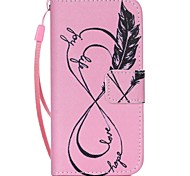 Feather Pattern PU Leather Material Flip Card Phone Case for iPhone 5C