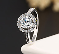 Lureme®Diamanted Silver Gold Plated Statement Rings