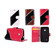Twill Luxury Flip Cover Pouch Hybrid Leather Wallet Case For Nokia Lumia 530