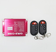 système d'argent parleurs de moto de lecteur mp3 audio d'alarme du moteur de télécommande sans fil anti-vol