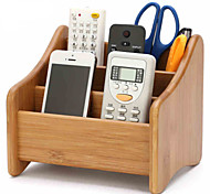 Remote Storage Box Wood Wooden Office Desktop Storage Box