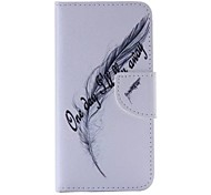 Feather leaf Pattern Cell Phone Leather For iPhone 6 Plus/6S Plus