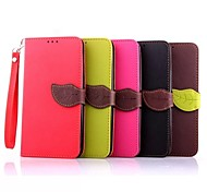 Leaf Pattern PU Wallet Leather Case with Hand Line for MOTO Nexus 6/MOTO E(Assorted Colors)