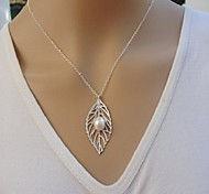 Hot Sale Foliage Sterling Silver Necklace Statement Necklaces Party For Woman&Lady