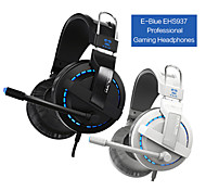 E-3lue Cobra 707 Blue Light Over-Ear Professional Gaming Headset com microfone para PC