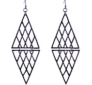European Style Brief Triangle Joint Hollow Out Alloy Earrings