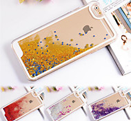 Transparent Fashion Dynamic Liquid Glitter Colorful Paillette Sand Quicksand Back Case Cover For iPhone 5/5S