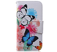 Color Butterfly Pattern PU Leather Full Body Cover with Stand for iPhone 6/iPhone 6s