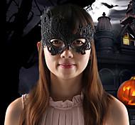 fiesta de disfraces elegante ave fénix cordón del diseño de la máscara de la mujer - negro