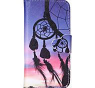 Color Dreamcatcher Pattern PU Leather Full Body Cover with Stand for iPhone 5/iPhone 5S