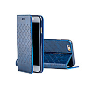 2015 New Grid Pattern Flip PU Leather Cover for iPhone 6/6S(Assorted Colors)