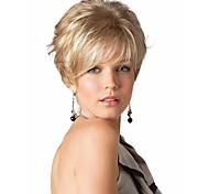 mujeres europeo dama extensiones pelucas syntheic encanto pelucas onda rubia