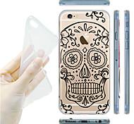 maycari®skull von Blumen transparente TPU Tasche für iPhone 5 / iphone 5s