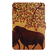 Shy Bear™ 6 Inch Leather Cover Print Case for Amazon New Kindle Touch 2014 (Kindle 7th) Ebook
