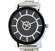 Linear Cutting Mirror, Rotating Gear Of The Second Hand, Concise Air Men Quartz Watch Cool Watch Unique Watch
