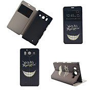 Smiling Teeth Pattern PU Leather Full Body Cover with Stand for Nokia Lumia 950XL N950XL