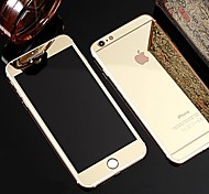tela cheia, antes e após o plaqueamento filme de vidro espelho para iphone 6 / 6s (cores sortidas)