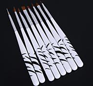 8PCS Zebra Nail Art Dotting Manicure Painting Drawing Polish Brush Pen Tools