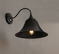 E27 220V 29*29CM 5-10㎡ Designer Duds Loft Style Ancient Black Iron Cap Wall Lamp Light LED