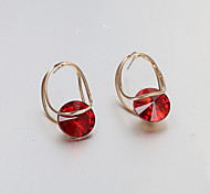 Earring Stud Earrings Jewelry Women Wedding / Party / Daily / Casual Alloy 2pcs Dark Blue / Red / Blue / Green