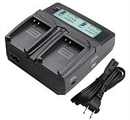 LVSUN® Camcorder Dual Charger with LCD Display Fast Charging for Nikon EL23