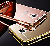 Plating Mirror Back with Metal Frame Phone Case for Galaxy Note 4/Note 5/Note 3(Assorted Colors)