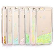 свежий блеск Bling динамическое сердечный плывуне жидкости в твердом переплете прозрачный чехол для Iphone 6с 6 плюс