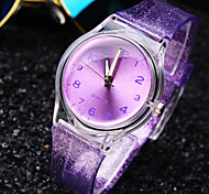 Women's Simple Personality Round Dial Plastic Strap Fashion Quartz Watch (Assorted Colors) Cool Watches Unique Watches