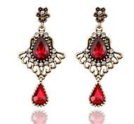 Hollow Crystal Drop Earrings Christmas Gift