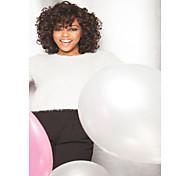 venta caliente extensiones pelucas syntheic estilo de color marrón oscuro de la mujer favorita es rizado rizado