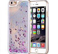 For iPhone 6 Case / iPhone 6 Plus Case Flowing Liquid / Transparent Case Back Cover Case Glitter Shine Hard PCiPhone 6s Plus/6 Plus /