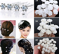 20PCS Wedding Bridal Pearl Hair Pins Flower Crystal Hair Clips Bridesmaid Jewelry 5 Styles
