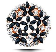 de Europa y América broche de flor popular de cinco camisa hueca