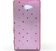 Love Pattern Transparent PC Cover Case for Sony M2
