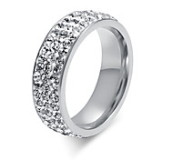 Z&X® Fashion Rhinestone Titanium Wedding Steel Ring Band Rings Party / Daily / Casual 1pc