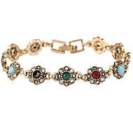 Beautiful Flowers Retro Alloy Fashion Bracelet
