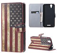 USA-Flagge Mappen-Lederstandplatzfall für Acer Liquid Z630 z630s (5,5 inch)