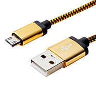 1M 3.28ft Aluminum+PVC USB2.0 Data Cable for Samsung Mobile Phone