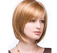 Color Mixture Synthetic Medium Wigs To European Women Lady Cheapest Price Extensions