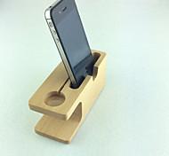 suporte de madeira estande carregador para o relógio maçã e iphone 6 plus / 6 / 5s / 5