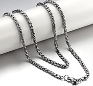Jewelry Chain Necklaces Party / Daily / Casual Titanium Steel 1pc Women Wedding Gifts