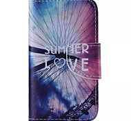 Ferris Wheel Pattern Cell Phone Leather For iPhone 4/4S