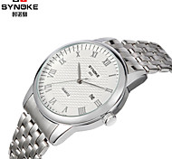SYNOKE Round Slim Dial  Watch Steel Strap Japanese Quartz waterproof Fashion Wrist Watch (Assorted Colors)