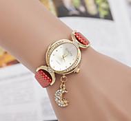 Woman The Moon Star Pendant Wrist Watch