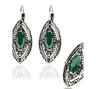 Women's Retro style palace luxury diamond plating alloy jewelry suit